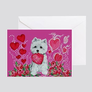 Be My Westie Greeting Cards