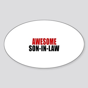 Awesome Son-in-law Sticker (Oval)