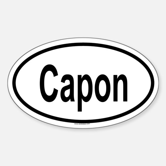 CAPON Oval Decal