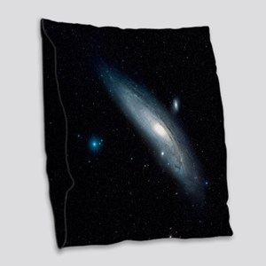 Andromeda Galaxy Burlap Throw Pillow