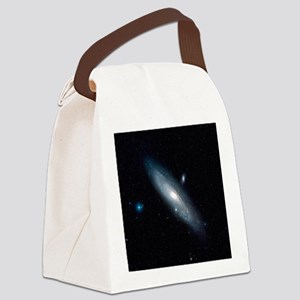 Andromeda Galaxy Canvas Lunch Bag