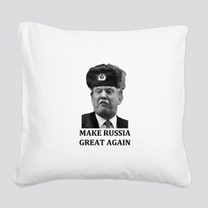 Make Russia Great Again Square Canvas Pillow