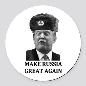 Make Russia Great Again Round Car Magnet
