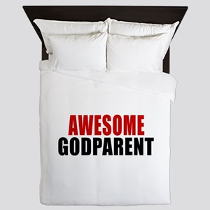 Awesome Godparent Queen Duvet