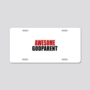 Awesome Godparent Aluminum License Plate