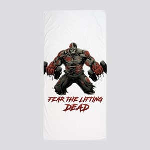 buff zombie Beach Towel