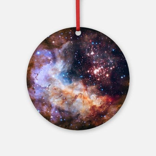 Unique Hubble space telescope Round Ornament