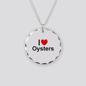 Oysters Necklace Circle Charm