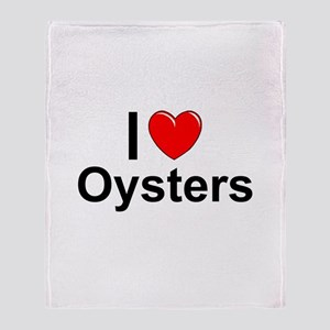 Oysters Throw Blanket
