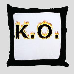 K.O. (Flames) Throw Pillow