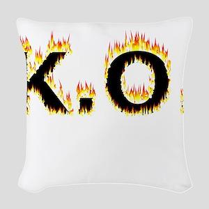 K.O. (Flames) Woven Throw Pillow
