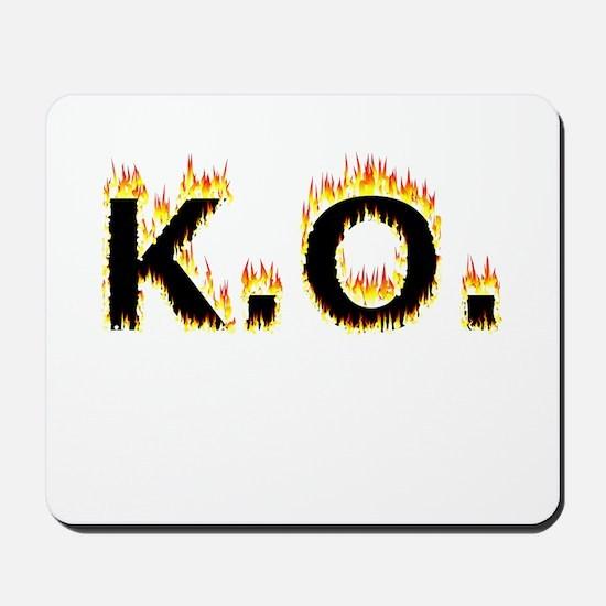 K.O. (Flames) Mousepad