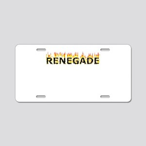 Renegade (Flames) Aluminum License Plate