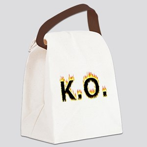 K.O. (Flames) Canvas Lunch Bag
