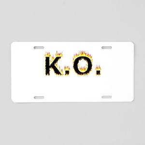 K.O. (Flames) Aluminum License Plate
