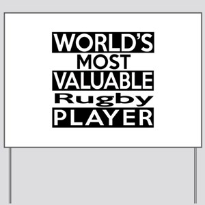 Most Valuable Rugby Player Yard Sign