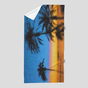 West Coast Sunset Beach Towel