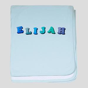 Elijah (Colored Letters) baby blanket