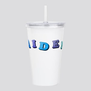 Aiden (Colored Letters Acrylic Double-wall Tumbler