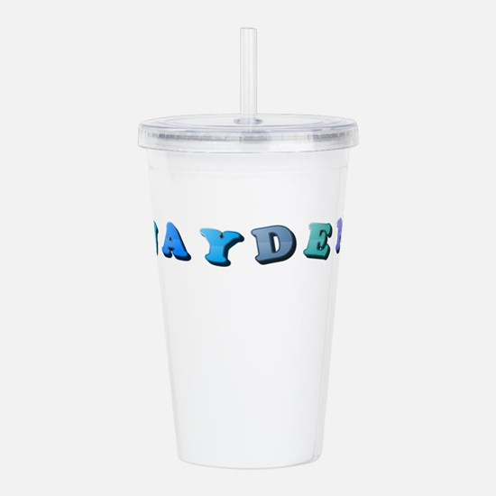 Jayden (Colored Letter Acrylic Double-wall Tumbler