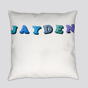 Jayden (Colored Letters) Everyday Pillow