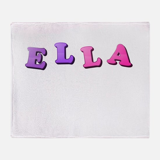 Ella (Colored Letters) Throw Blanket