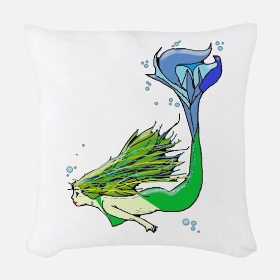 Mermaid Woven Throw Pillow