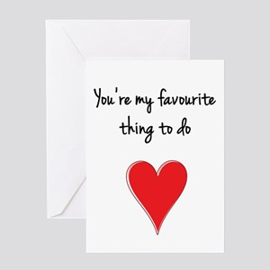 You're My Favourite Thing to Do Greeting Cards