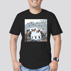 Wildlife from the nort Men's Fitted T-Shirt (dark)
