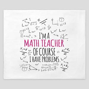 Math Teacher With Problems King Duvet