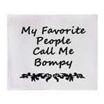 My Favorite People Call Me Bompy Throw Blanket
