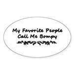 My Favorite People Call Me Bo Sticker (Oval 10 pk)