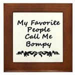 My Favorite People Call Me Bompy Framed Tile