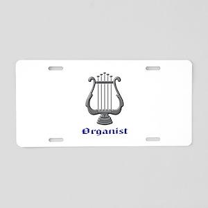 Organist Aluminum License Plate