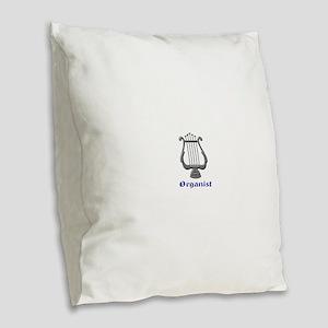 Organist Burlap Throw Pillow