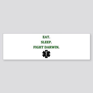 Eat Sleep Fight Darwin Bumper Sticker