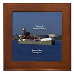 Victory & James L. Kuber Framed Tile