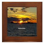 Wilfred Sykes Sunset Framed Tile