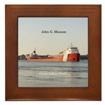 John G. Munson Framed Tile