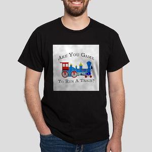 Game To Run A Train - Ash Grey T-Shirt