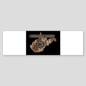 WEST VIRGINIA RIG UP CAMO Bumper Sticker