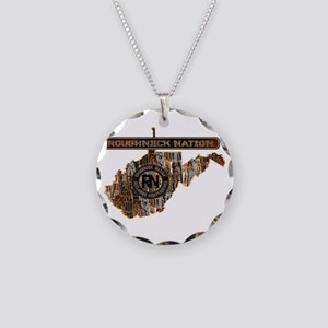 WEST VIRGINIA RIG UP CAMO Necklace Circle Charm