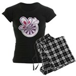 Bed and Butterfly Women's Dark Pajamas