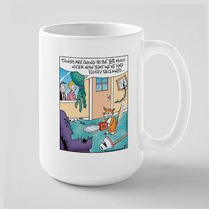 Cat Chainsaw Large Mug
