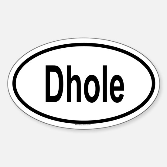 DHOLE Oval Decal