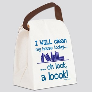 Clean house, Oh look! A Book! Canvas Lunch Bag