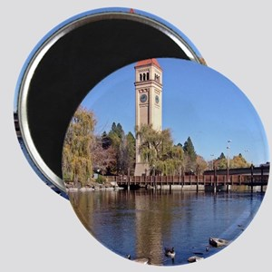 Clock Tower River View Magnets