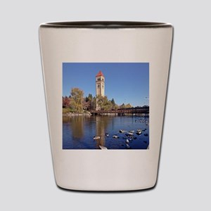 Clock Tower River View Shot Glass