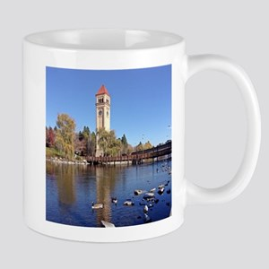 Clock Tower River View Mugs