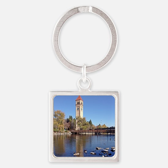 Clock Tower River View Keychains
